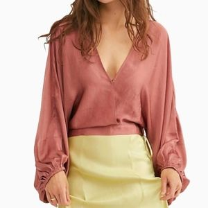 FREE PEOPLE | MIDNIGHT VIBES BLOUSE IN PINK